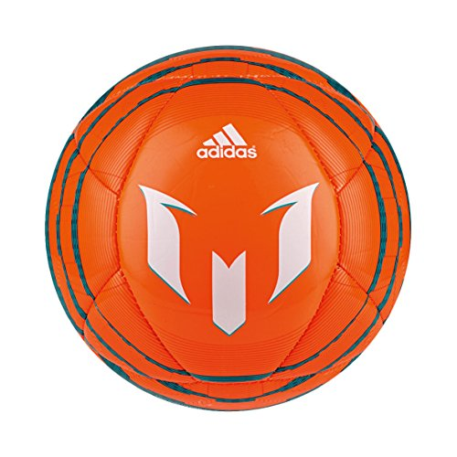 adidas Mini-Fußball Messi 10, Solar Orange/Bold Orange/Power Teal F14, 1, M36936