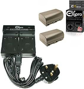Ex-Pro Panasonic DMW-BLF19E, DMW-BLF19, DMW-BTC10E DUAL Fast Travel-Pro Mains Camera Charger [VALUE KIT] with 2 x ProPower Elite 2200mAh DMW-BLF19E Battery for DMC-GH3, DMC-GH3E, DMC-GH3EB-K, DMC-GH4, DMC-GH5