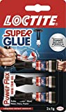 Loctite 1885734 3 G Super Glue Mini Trio Power Flex Gel – Transparent, transparent, 1885734