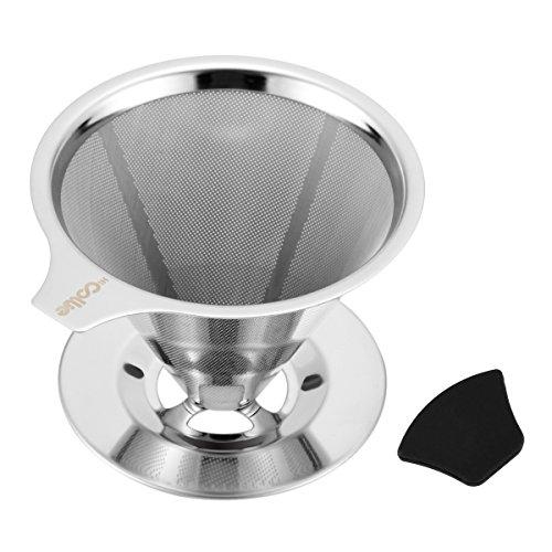 HiCollie Edelstahl Kaffeefilter Wiederverwendbar Kaffee Filter/Teefilter, Geeignet Für 1 bis 4...