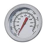 (+ Ing) in acciaio INOX barbecue fumatore termometro gauge barbecue griglia di cottura strumenti