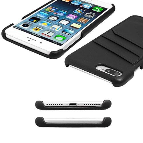 """iPhone 8 iPhone 7 (4.7"""") Case, atKITE Echtleder Luxury-Style Rückseite Case - Rot - Kartenhalter - Ultra Slim - Präziser Zuschnitt und Design - Handgefertigt Schwarz"""