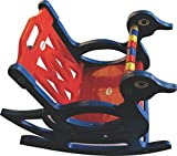 Pihu Enterprises Baby Rocking Chair With Safety Bar And Arm Rest-Red&Blue