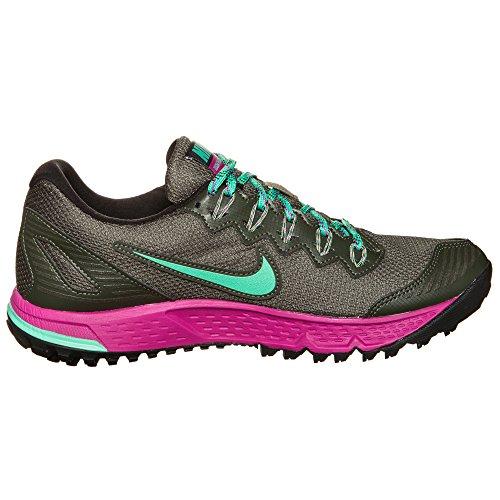 Nike Donna Wmns Air Zoom Wildhorse 3 Gtx Scarpe Running Beige (Cargo Khaki / Menta-Fchs Flash)