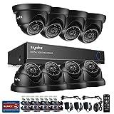 Sannce Videoüberwachung 8CH 1080N AHD Überwachungssystem DVR Recorder mit 8 x 720P Dome Überwachungskameras für Innen und außen Bereich ohne Festplatte Nachtsicht zwischen 20-30 Meter