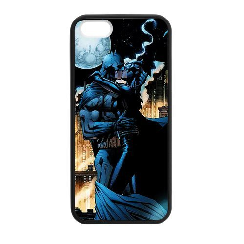 kiss Custom Case for iPhone 5,5S TPU (Laser Technology) ()