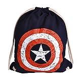 Captain America Sportbag Shield Logo 46x36cm Marvel Elvenwald en Coton Bleu