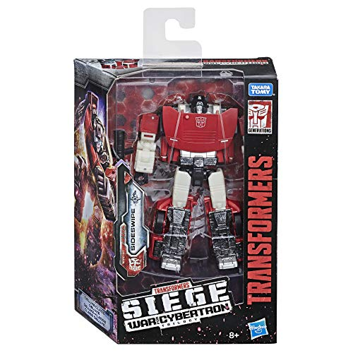 Transformers Generations War for Cybertron: Siege Deluxe Class WFC-S9 Autobot Sideswipe Action Figure