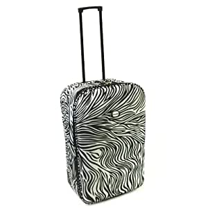 Karabar Guaranteed EasyJet Cabin Approved Expandable Suitcase (Zebra Black)
