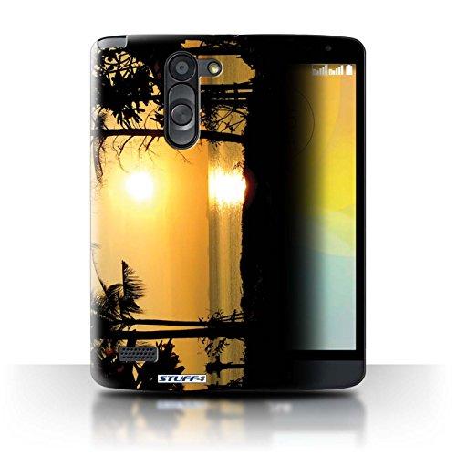 Stuff4® Hülle/Hülle für LG L Bello/D331 / Tropische Bäume Muster/Sonnenuntergang Kollektion