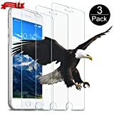 wsky Panzerglas Schutzfolie für iPhone 8 Plus/7 Plus[3 Stück], 9H Härte Folie Tempered Glass Displayschutzfolie, HD Anti-Kratzen, 3D Touch kompatibel Panzerglasfolie für iPhone 8 Plus(5,5 Zoll)