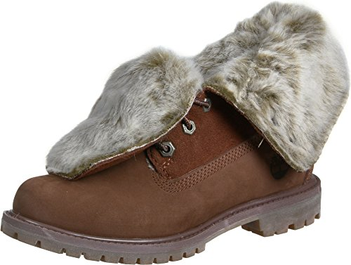 Timberland Authentics Faux Fur Fold W Scarpa Marrone