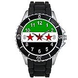 Syrie libre Drapeau Pays - Montre Unisex - Bracelet Silicone Noir