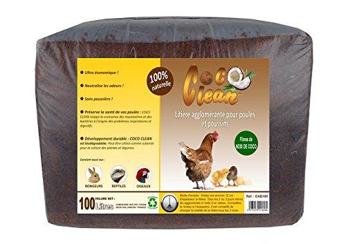 LITIERE 100% NATURELLE POUR POULAILLER COCO CLEAN 100 LITRES