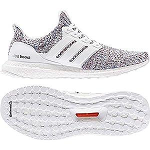 adidas Ultraboost, Zapatillas de Running para Hombre, Blanco FTWR White/Blue, 44 2/3 EU