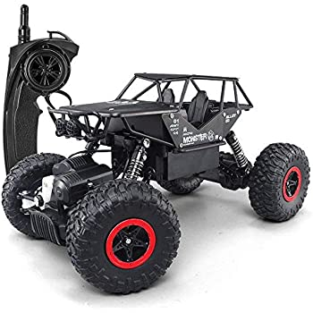 56a7c6caa1 SZJJX RC Cars Off-Road Rock Vehicle Crawler Truck 2.4Ghz 4WD High Speed  1 14 Radio Remote Control Racing Cars Electric Fast Race Buggy Hobby Car  (Black)