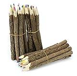 Farang Buntstifte aus natürlichen Zweigen, groß, aus Thailand, Mehrstückpackung, 30 Stück, verschiedene Farben
