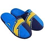 NFL San Diego Chargers Split Color Slide Slipper, Medium, Blue