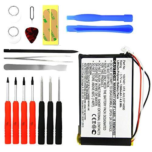 subtel® Qualitäts Akku kompatibel mit Tomtom GO 530, GO 630, GO 720, GO 730, GO 930, Traffic, SatNav inkl. Werkzeug-Set (1300mAh) AHL03714000 VF8 Ersatzakku Batterie Gps-tomtom Go 530