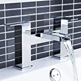 iBathUK | Modern Waterfall Monobloc Bath Filler Mixer Tap Chrome Bathroom Tub Faucet TB108