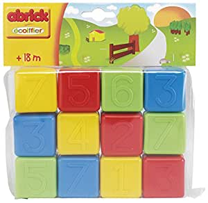 Ecoiffier 404 Formes et Couleurs   12 Cubes Alphabet