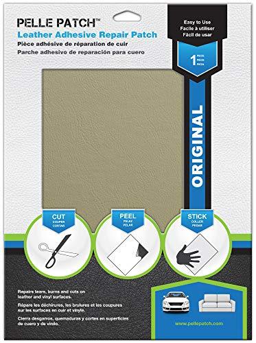 Pelle Patch - Pièce adhésive de réparation de Cuir et Vinyle - 25 Couleurs Disponibles - Original 28cm x 41cm - Beige
