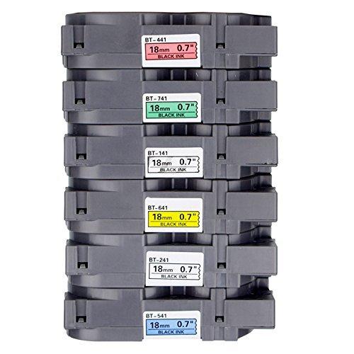 2Stück onirii kompatibel Brother P Touch Label Maker Tapes TZ Label Tape weiß gelb klar