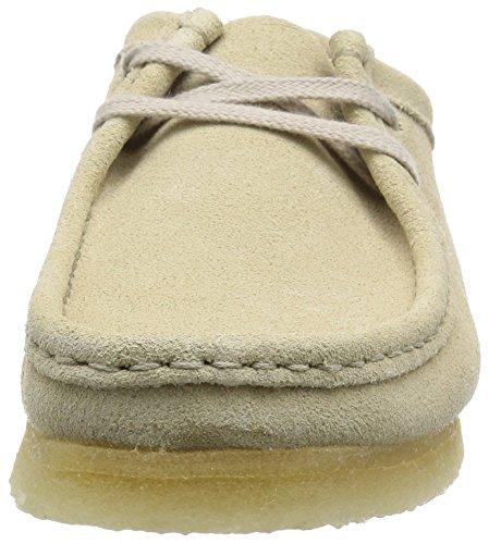 Clarks Originals Mens Wallabee Suede Shoes Blanc