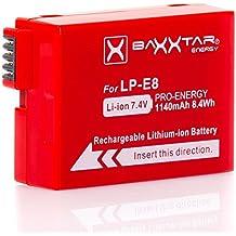 Baxxtar Pro Energy - Batería para Canon LP-E8 (1140mAh) con
