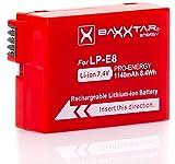 Baxxtar Pro Energy - Ersatz für Akku Canon LP-E8 (1140mAh) mit Infochip (100 Prozent kompatibel) Canon EOS 550D 600D 650D 700D