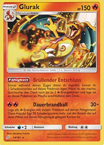 14/181 - Glurak - Rare Holo - Pokemon - Deutsch - Teams sind Trumpf (Glurak Karte Pokemon)