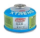 Coleman Gaskartusche C100 Xtreme, Ventil Gas Kartusche für Campingkocher, Gaskartusche mit Schraubventil, Butan-Propan Mischung, Füllgewicht 100 g, für den Einsatz bei extremen Temperaturen bis -27°C