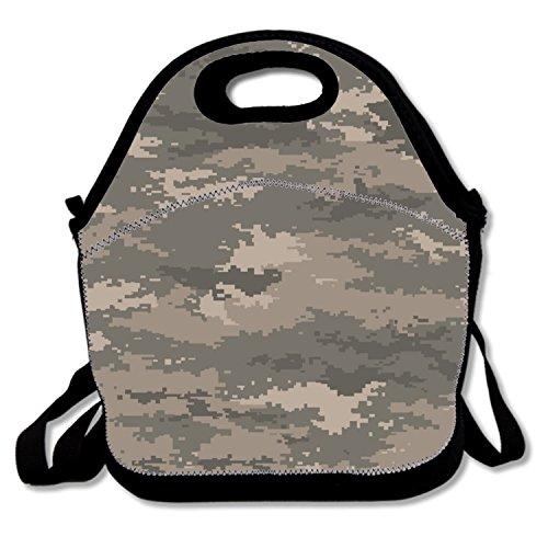 (trendigen Lunchbag Bright Neon Farbe Lunch Box Isolierung Board für Jungen Size Pixel camouflage army4)