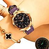 EJOLG Mode Damen Armbanduhr,Mit leuchtenden,Klassisch Diamant formspiegel Damen Uhr