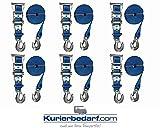 6x Spanngurt/Zurrgurt mit Karabinerhaken und Ratsche 6 Meter - 35 mm