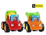 Zest 4 Toyz Kid's Unbreakable Automobile Construction Machine Car Toy (Multicolour) - Set of 2