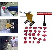 Weylon 26 piezas Paintless Kits pegamento desabollador y extractor Dent elevador con ventosa T-mango abolladuras