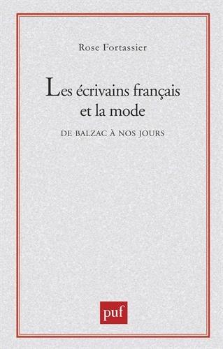 Les écrivains français et la mode