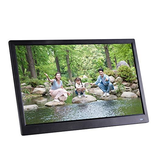 Digitaler Bilderrahmen,Sixcup®12,5 Zoll 1920x1080 Hohe Auflösung Full IPS LCD Panel Ultra Breitbild mit Fernbedienung Unterstützt 32G SD USB Multi-Format für Video Musik FotoBilder und Videos (Black)
