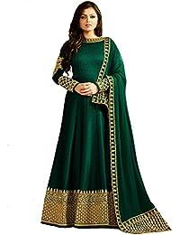 Mafiya Fashion Drashti Dhami Designer Green Embroidered Party Wear Anarkali Suit