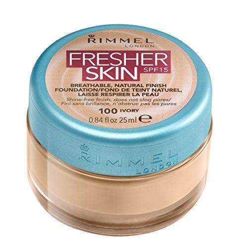 Rimmel London Fresher Skin SPF 15 Breathable Natural Finish Foundation - 100 Ivory