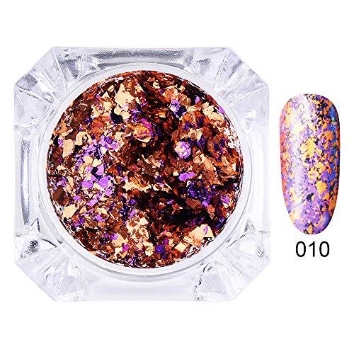 Mitlfuny➤Black Friday & Cyber Monday -80%➤DIY-Mode-Nagel-Flecken-glänzender Regenbogen strahlt Nagellack-Wellen-Kunst-Dekoration aus