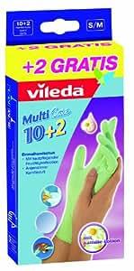 Vileda - 126067 - Gants Multi Care - 10+2 S / M - Lot de 2