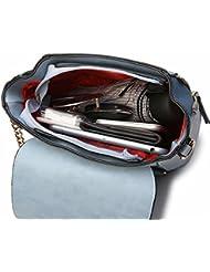 Mujeres moda Hombro diagonal bolsa de Hombro cruzada con Multi-Purpose Bucket handbags verde Oscuro