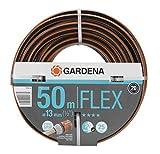 Gardena Comfort Flex Schlauch Formstabiler, Flexibler Gartenschlauch mit Power-Grip-Profil, Spiralgewebe, 25 bar Berstdruck, ohne Systemteile, verpackt, 13 mm, 1/2 Zoll, 50 m
