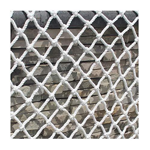 RSH Weißes Sicherheitsnetz-Schutznetz, Kinderschutznetz-Dekor-Netz-Schutz-Zaun-Klettern Gesponnenes Seil-LKW-Fracht-Anhänger-Netz-Maschen-Netze, Für Schienen-Balkon-Geländer-Treppen-Spielplatz