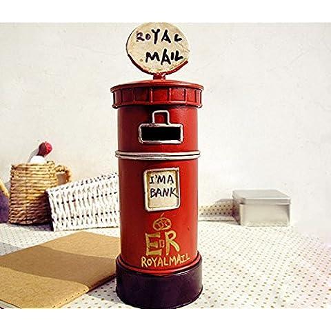 XJoel lega metallica Londra britannico casella di posta in stile Piggy regalo di compleanno Rouge