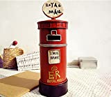 XJoel Legierungs-Metall-britisches Art-London-Postkasten-Postmünzen-Geld-Bank-Geburtstag-Geschenk-Rot