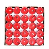 Milya 50 Kerzen Set Teelicht Set Romantische Rund Kerzen rauchfreie Teelichter Glas-Teekanne Glaswärmer Tee-Kerze Tealight