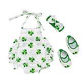 Yiiquan Babybekleidung Baby-Mädchen Kleidung Set Overall Strampler Kopfschmuck Schuhe 3tlg Outfits Größe 66